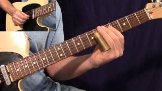Guitar Licks - Lesson 8 Standard Tuning Slide in E7 (Fast and Slow)