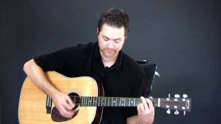 Country Music Guitar Lesson - Picking for Acoustic Guitar