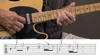 Bending Country Guitar Lick Lesson
