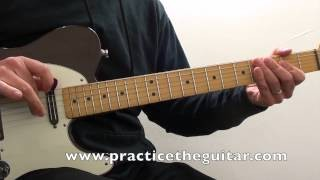 Country Guitar Lessons-How To Play-8 Bars Country Twang In A-Backing Tracks