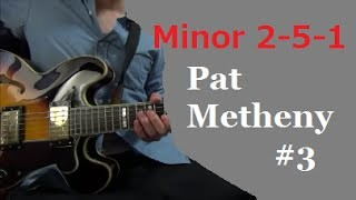 Minor II V I - Pat Metheny #3 【Transcribe Solo Licks】 Tabs
