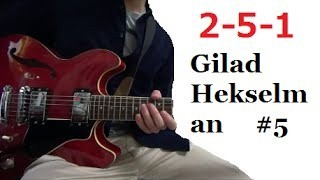II V I - Gilad Hekselman #5 【Transcription Solo Licks】 Tabs