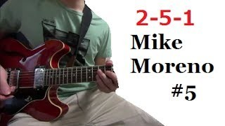 II V I - Mike Moreno #5 【Transcription Solo Licks】 Tabs