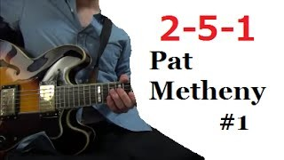 II V I - Pat Metheny #1 【Transcribe Solo Licks】 Tabs