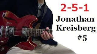 II V I - Jonathan Kreisberg #5 【Transcription Solo Licks】 Tabs