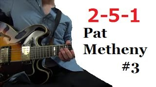 II V I - Pat Metheny #3 【Jazz Guitar Lesson】 Tabs