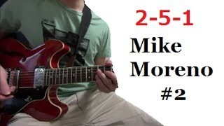 II V I - Mike Moreno #2 【Contemporary Jazz Guitarist】