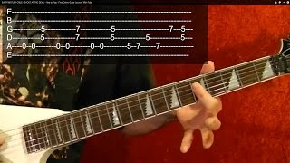 Guitar Lesson - 25 Best Heavy Metal Riffs Ever! EASY ( 1 of 2 )  With Printable Tabs!