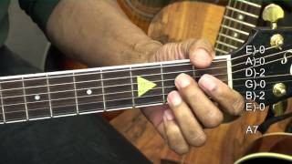 Guitar Chord Form Tutorial #243 Eric Clapton Style Blues Chords Lesson EricBlackmonMusicHD