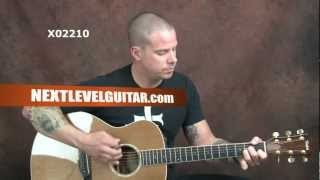 Learn acoustic Blues Eric Clapton inspired guitar song Old Love style lesson on Taylor steel string