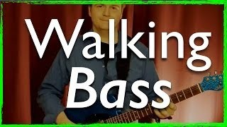 Jazz Guitar: Walking Bass Lines with Chords - Jazz Guitar Lesson