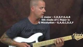 Shred metal guitar lesson on fast legato playing with licks scales modes  and tablature