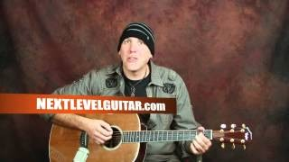 Learn how to play Acoustic Blues guitar rhythm & licks lessons spice up playing