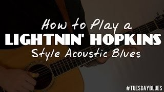 Lightnin Hopkins Lesson - Double Bass with a Lick | Tuesday Blues #025
