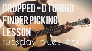Country Blues Fingerpicking Dropped D Part 2 | TB060