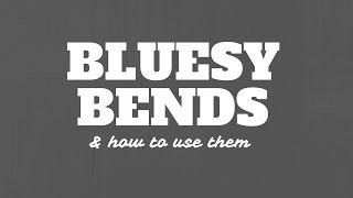 Make Your Bending Bluesy with Quarter Step Bends | Tuesday Blues 041