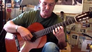 Classical guitar, learning the C scale by segovia
