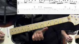 Stevie Ray Vaughan - Tightrope Solo - Blues Guitar Lesson (w/TABS)