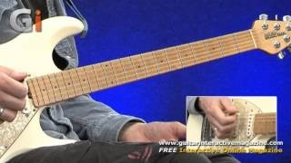 Stevie Ray Vaughan Style Guitar Lesson - Bonus Material Issue 20 Guitar Interactive