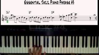 Jazz Piano licks excercises 1-5 Easy  II-V-I Phrases