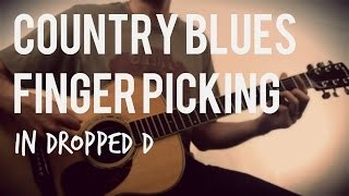 Country Blues Fingerpicking in Dropped D | Tuesday Blues #059
