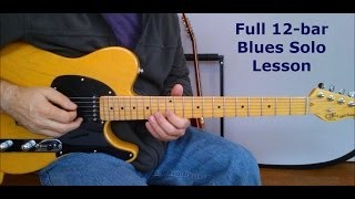 Full 12 Bar Blues Lesson  with TAB (Slow Mo Blues)