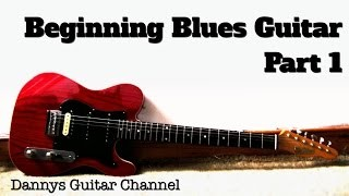 Beginning Blues Guitar - Part 1 - 12 Bar Blues Shuffle in E Lesson - Easy Blues You Can Use ;)