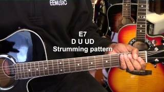 12 Bar Blues In E Major Hound Dog Lesson Tutorial Elvis Presley EricBlackmonMusicHD
