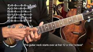 Acoustic Blues Guitar Lesson (Solo - With a Pick) - EP049