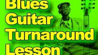 Blues Turnaround You MUST Learn! Guitar Lessons - Easy Beginners Electric Acoustic Riff Tutorial