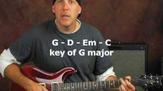 Rock guitar lesson soloing exercise play lead scales all over the neck and jam