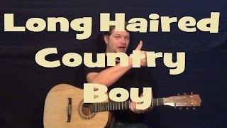 Long Haired Country Boy (CHARLIE DANIELS) Easy Strum Guitar Lesson