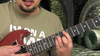 Metallica Guitar Lesson - Seek and Destroy part 2 - Hard Rock Guitar Lessons