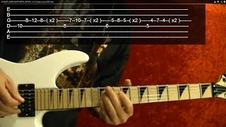 20 MUST LEARN HEAVY METAL RIFFS!! ( 2 of 3 ) Guitar Lesson With Tabs
