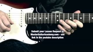 Legato Guitar Lesson - Lead Lick 13 - Robert's Quicklicks