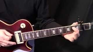 "how to play ""Run to You"" by Bryan Adams on guitar - rhythm & solo guitar lesson"
