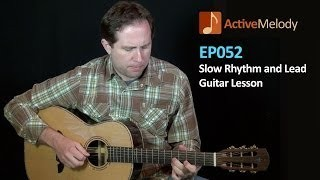 Slow Rhythm and Lead Guitar Lesson (With Piano) - EP052