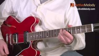 Blues Lead Guitar Solo Lesson, In the Key of B (Part 1 of 6) - No Accompaniment: EP017-1
