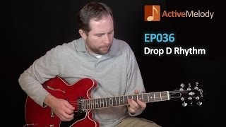 Drop D Tuning Electric Blues Rhythm Guitar Lesson - EP036
