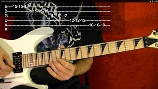 20 MUST LEARN HEAVY METAL RIFFS!! ( 1 of 3 ) Guitar Lesson ( With Printable Tabs! )