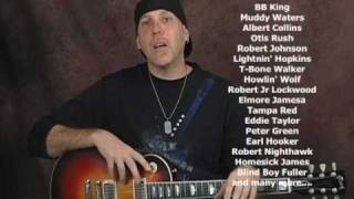 Delta Chicago Blues & Slide guitar lessons dvd preview with 7 bonus DVDs