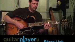 Beginner Blues Guitar Lessons - My First Blues LIck -