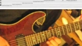 Rock Licks 12 .. Scorching  Diminished Legato Arpeggio ... Guitar lesson