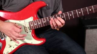 Double Stop Bend with Rake Lick - Blues Rock Guitar Solo Lessons - Pentatonic Scale Licks