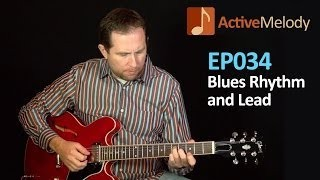 How To Play a Jazzy Blues Rhythm on Guitar and a Simple Blues Guitar Solo - EP034