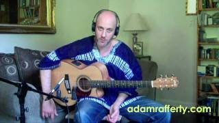 Acoustic Blues Guitar Lesson -  E7 Groove  Pattern - FREE tabs available - Adam Rafferty