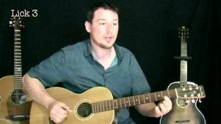 How to play acoustic finger style delta blues - guitar lesson