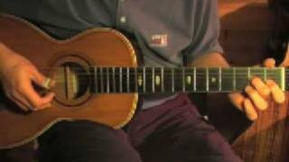 Slow Blues in E - Fingerpicking Guitar Lesson - Bad Blues Part 2