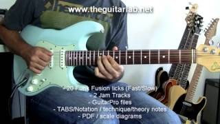 Preview - 20 Funk Fusion Guitar Licks  - TheGuitarLab.net -