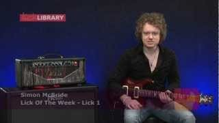Simon McBride - Blues Rock Lick Lesson With TAB - LickLibrary